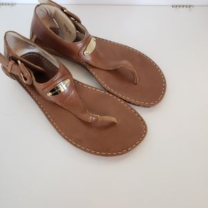 Michael Kors brown sandals leather size 8